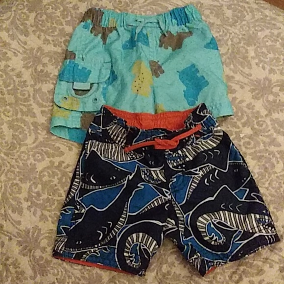 Baby Gap Other - 3 for $15 2 Pairs of Infant Boys Swimshorts
